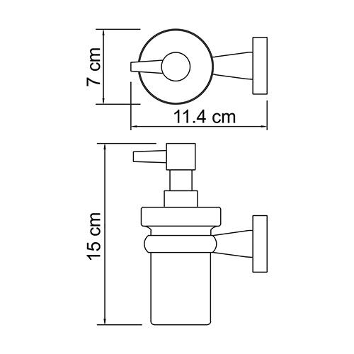 Дозатор с держателем WasserKRAFT Lippe K-6599
