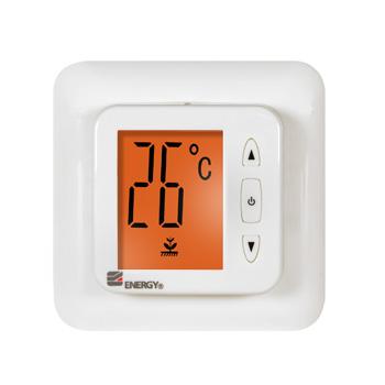 Терморегулятор для теплого пола Energy TK 02, с ЖК дисплеем
