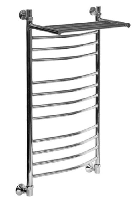 Полотенцесушитель водяной Aquanet Хекла ЛД (г2) ВП 1000*400 00184281 с верхней полкой