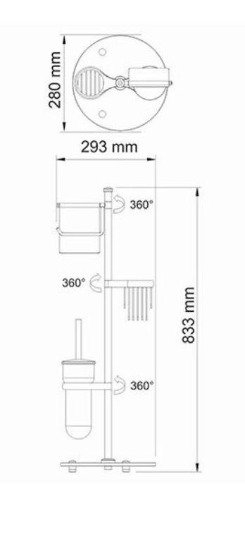 Стойка WasserKraft К-1246 напольная, комбинированная