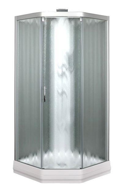 Душевая кабина Aquanet Penta 2 Rain 90*90 тонированное стекло/узорчатое стекло