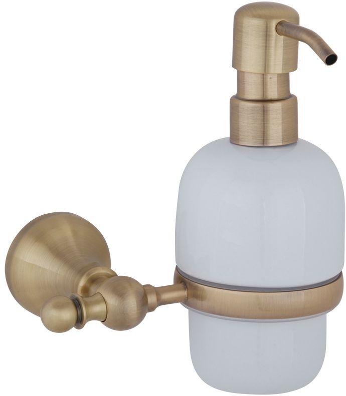 Дозатор жидкого мыла настенный Veragio Gialetta, керамика/бронза VR.GIL-6470.BR