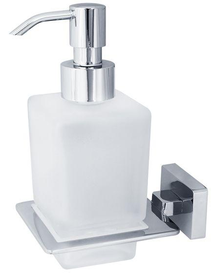 Дозатор жидкого мыла настенный Veragio Ramba, хром/матовое стекло VR.RMB-4970.CR