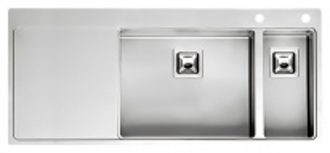 Мойка кухонная Reginox Nevada 50x18 LUX OKG right L сталь