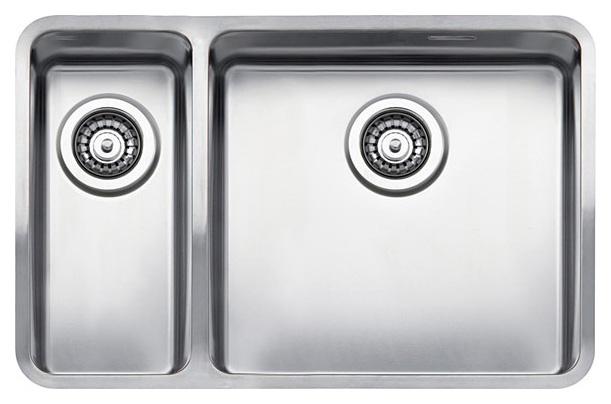 Мойка кухонная Reginox Ohio 18x40+40x40 LUX L сталь