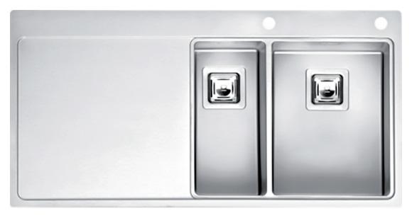 Мойка кухонная Reginox Nevada 18x30 LUX OKG right L сталь