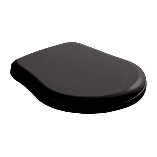 Крышка-сиденье Kerasan Retro 108X04 Soft-Close, черное глянцевое