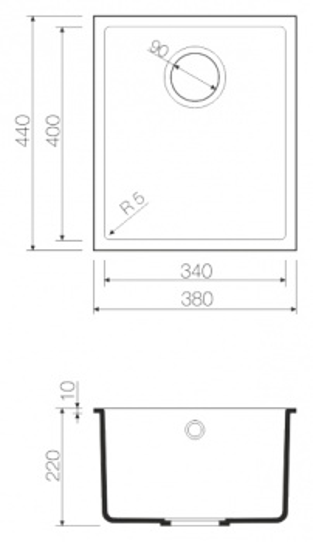 Мойка кухонная Omoikiri Bosen 38-U-WH белая