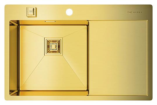 Мойка кухонная Omoikiri Akisame 78-LG-L светлое золото