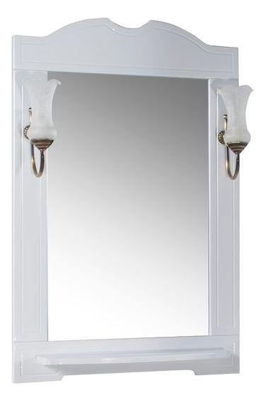 Зеркало АСБ-Мебель Астра нсв декор 65 белое