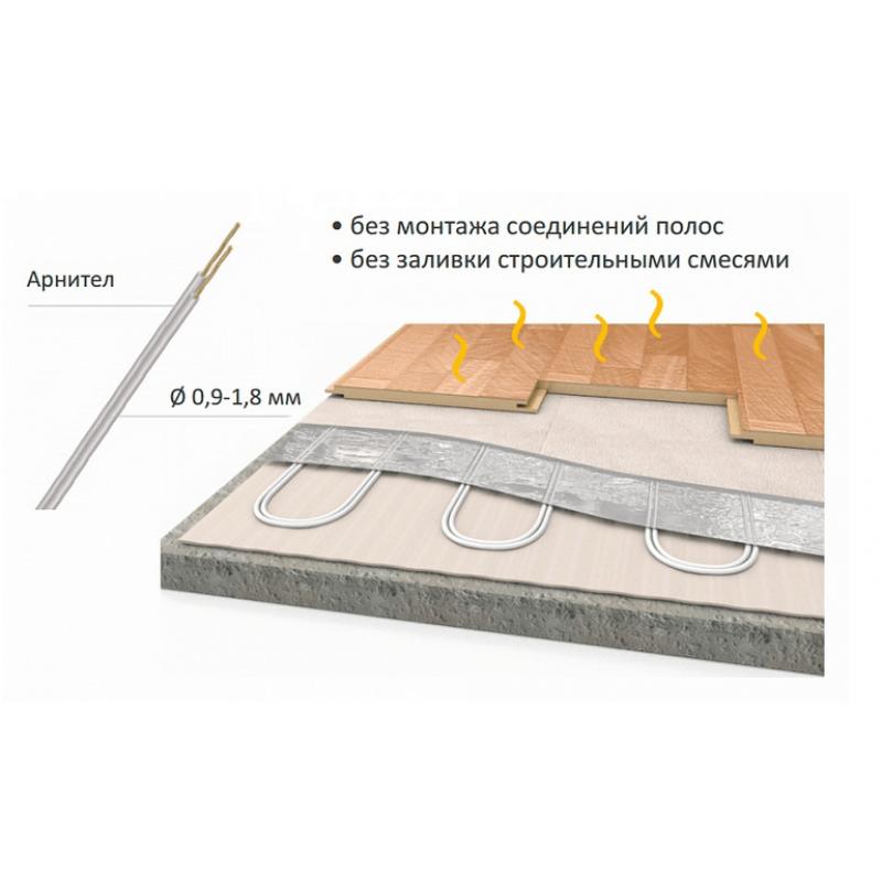 Теплый пол Теплолюкс Alumia 75-0.5: площадь обогрева 0,5 кв. м., 75 Вт/м