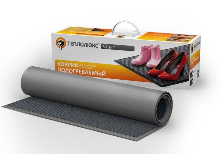 Коврик подогреваемый Теплолюк Carpet 80*50 см для сушки обуви коричневый 43050562000005