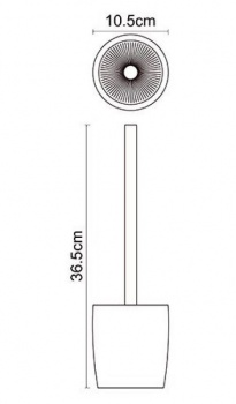 Ершик для унитаза WasserKraft Dinkel K-4627