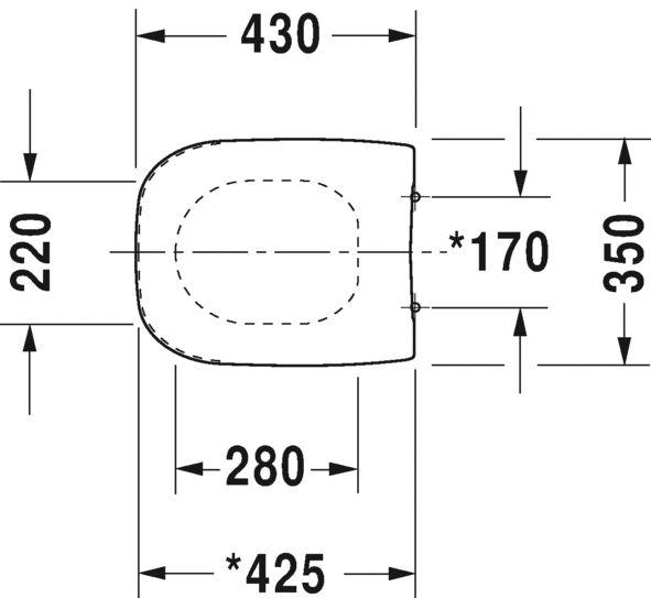 Комплект 45351900A1+458.124.21.1: Унитаз Duravit D-Code 25350900002, подвесной, с крышкой-сиденьем Standart 0067310000+Инсталляция Geberit Duofix 458.124.21.1 UP100 с клавишей Delta 21 (хром глянец)