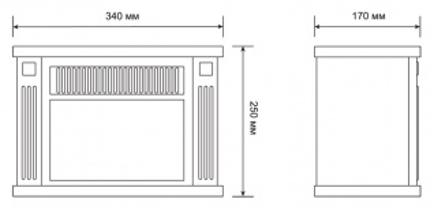 Электрокамин Electrolux EFP/M-5012W мини