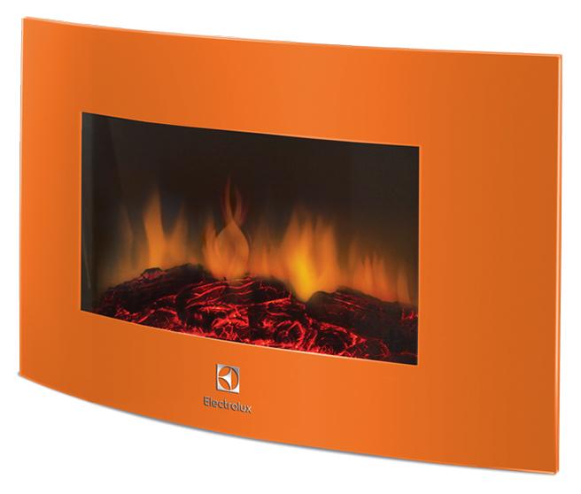 Электрокамин Electrolux EFP/W-1200URLS настенный, оранжевый