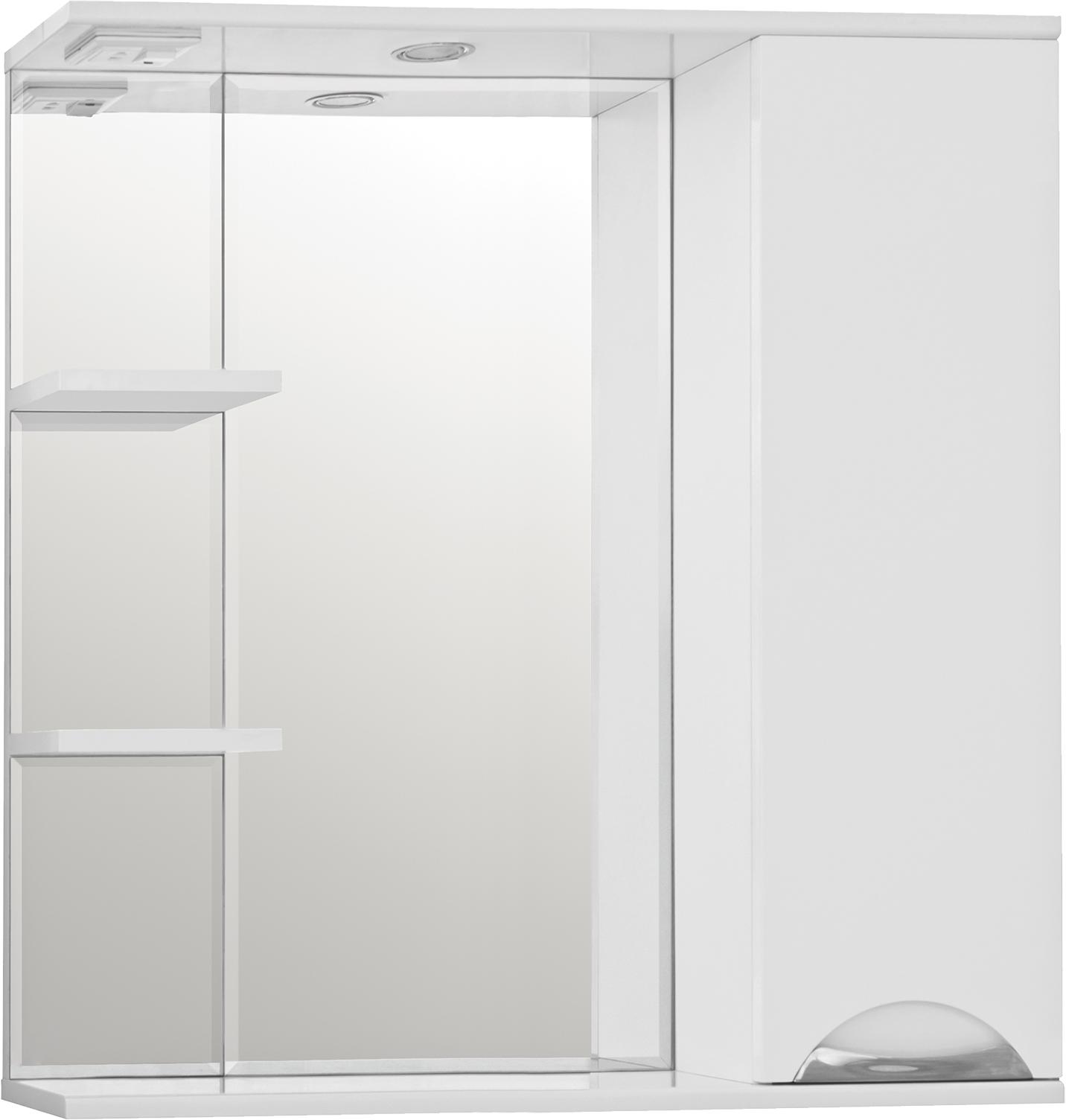 Зеркало-шкаф Style Line Жасмин 80/С белый