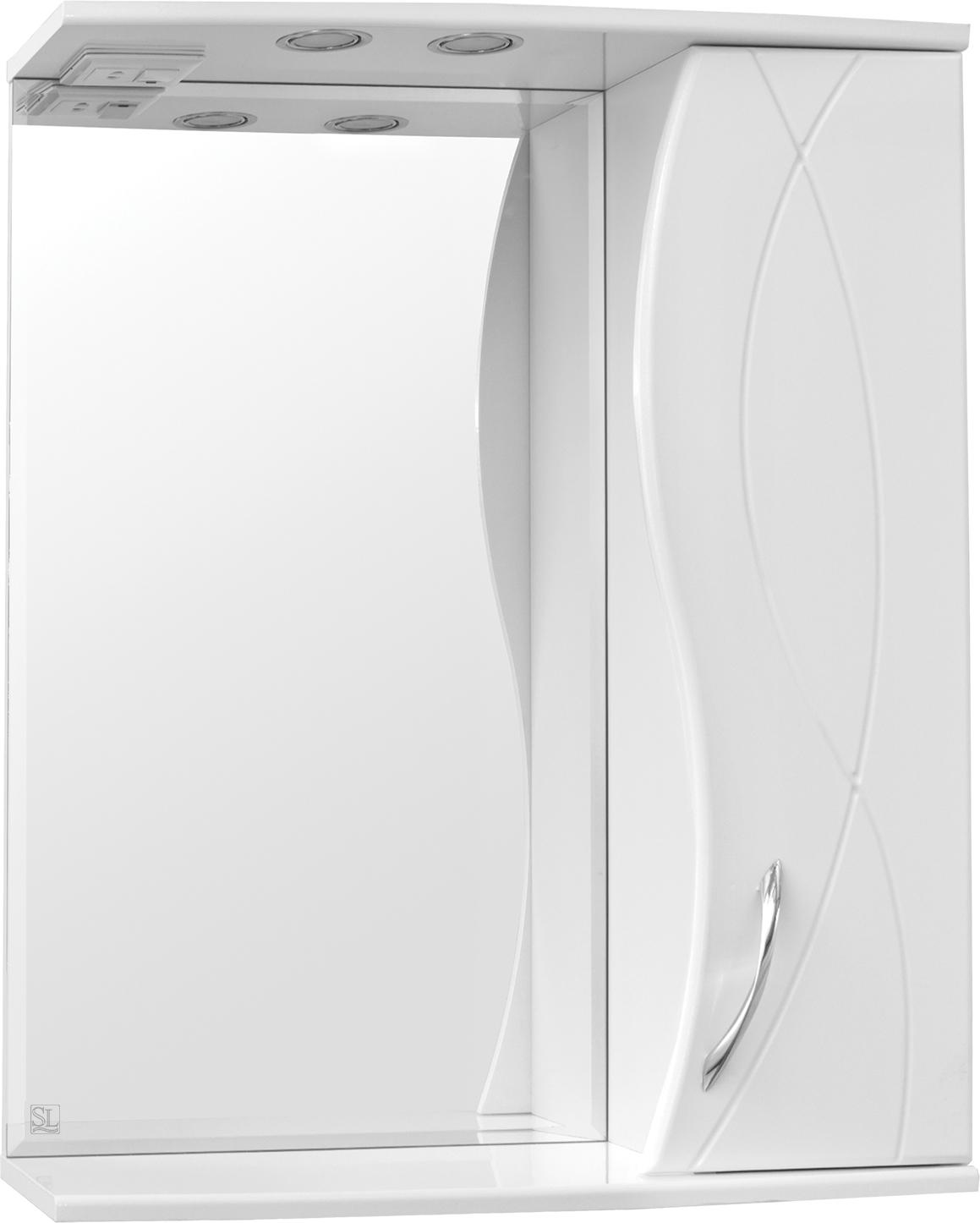 Зеркало-шкаф Style Line Амелия 65/С белый