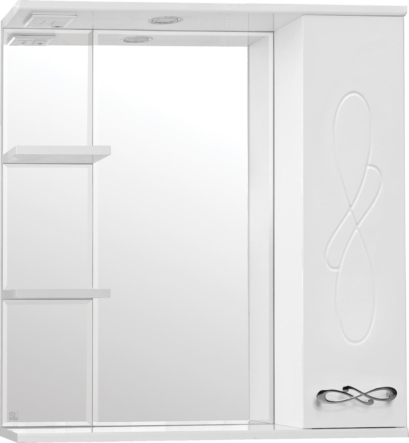 Зеркало-шкаф Style Line Венеция 75/С белый