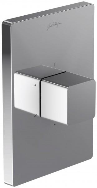 Внешняя часть Jacob Delafon Modulo Square E98737-CP запорно-переключающего устройства на три потребителя