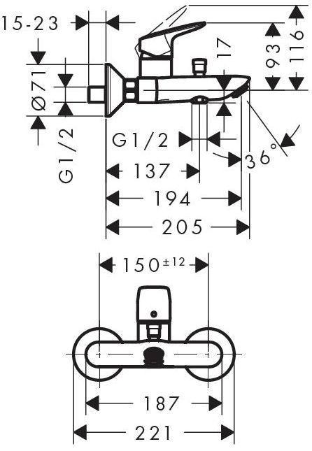 Комплект смесителей Hansgrohe Logis 71400000+71070000