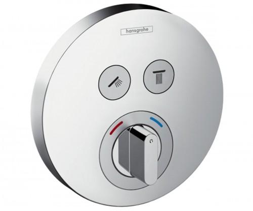 Смеситель для душа Hansgrohe ShowerSelect S термостатический, для 2 потребителей, 15748000