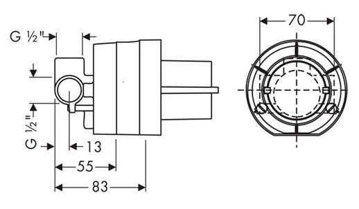 Гигиенический душ Hansgrohe 32129000 со смесителем