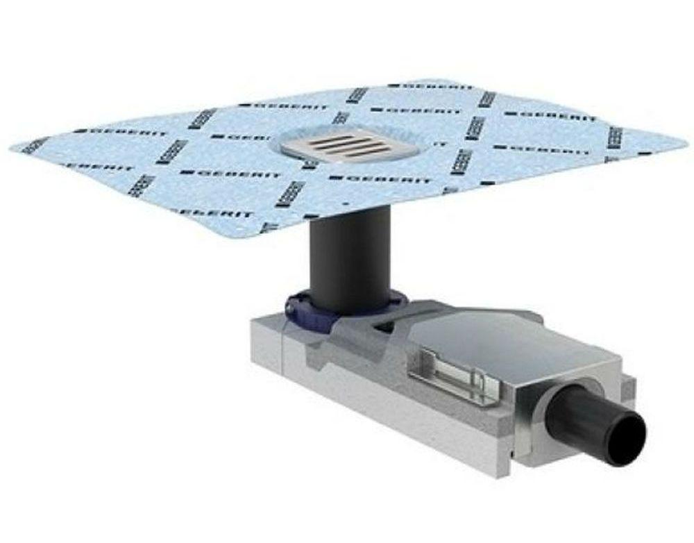 Душевой напольный трап Geberit CleanLine 154.052.00.1, с решеткой, для стяжки пола от 65 мм, выпуск D40 мм