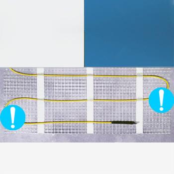 Теплый пол Energy Mat 2,60-410 Вт, площадь обогрева 2,60 м2, длина 5,20 м