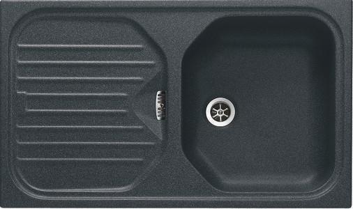 Мойка Franke EUROFORM EFG 614, арт. 114.0175.378, гранит, установка сверху, оборачиваемая, цвет графит, 80*47,5 см
