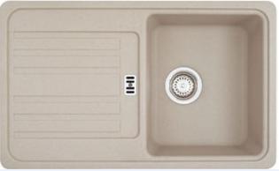 Мойка Franke EUROFORM EFG 614, арт. 114.0175.400, гранит, установка сверху, оборачиваемая, цвет сахара, 80*47,5 см