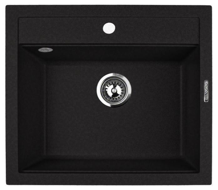Кухонная мойка Lava Q2.BAS, цвет BASALT чёрный, 56*50,5 см