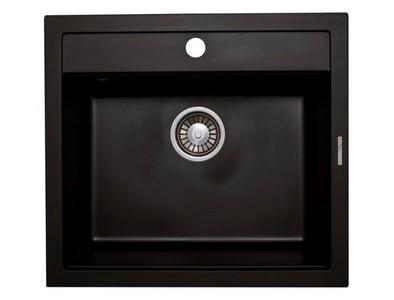 Кухонная мойка Lava Q2.LAV, цвет LAVA чёрный металлик, 56*50,5 см