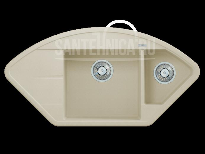 Кухонная мойка Pyramis Alinia арт. 70029601, шампань, угловая