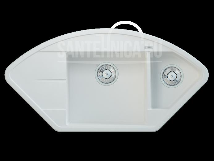 Кухонная мойка Pyramis Alinia арт. 70029701, жасмин, угловая