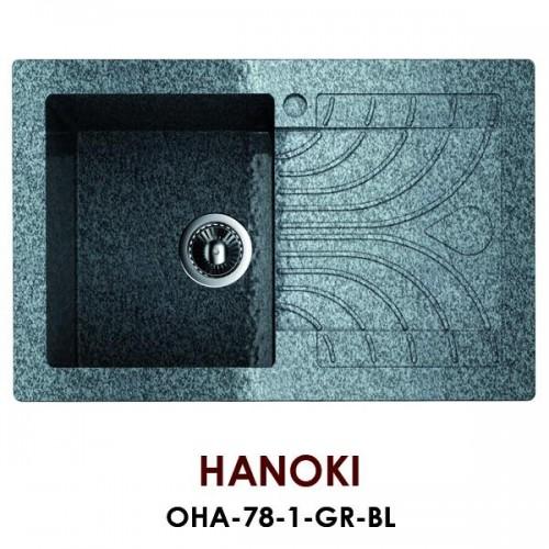 Мойка Omoikiri Hanoki OHA-78-1-GR, черный