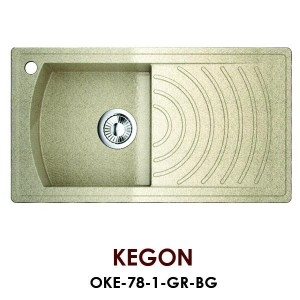 Мойка Omoikiri Kegon OKE-78-1-GR, черный