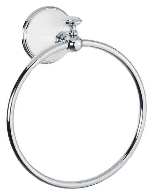 Полотенцедержатель кольцевой ALL.PE Harmony HA015bi/cr, белый/хром