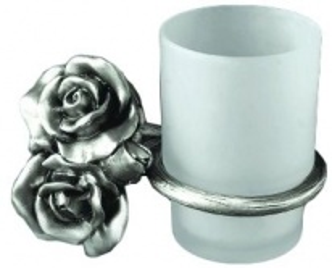 Стакан для щеток Art&Max Rose AM-0914-T, серебро