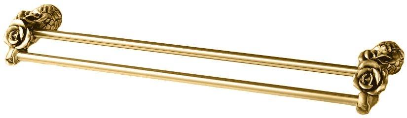 Двойной полотенцедержатель Art&Max Rose AM-0918-Do, золото