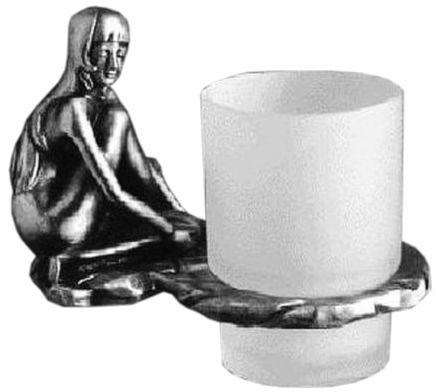 Стакан для щеток Art&Max Juno AM-0714-T, серебро