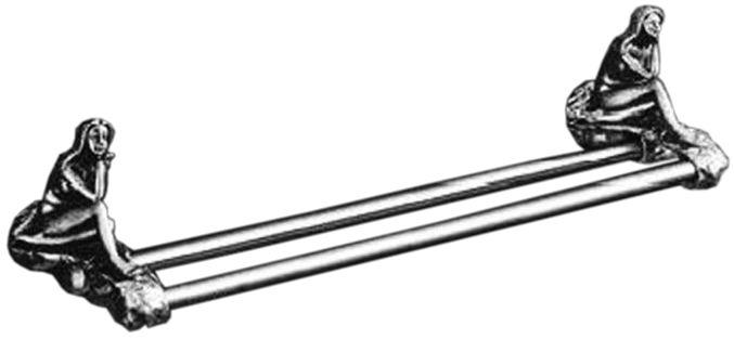 Двойной полотенцедержатель Art&Max Juno AM-0718-T, серебро