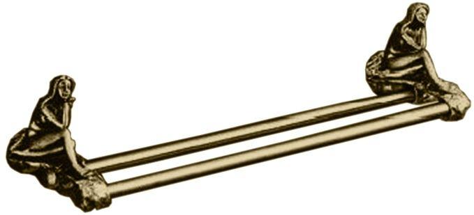 Двойной полотенцедержатель Art&Max Juno AM-0718-B, бронза