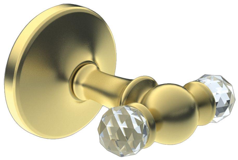 Двойной крючок Art&Max Antic Crystal AM-2686SJ-Do, золото