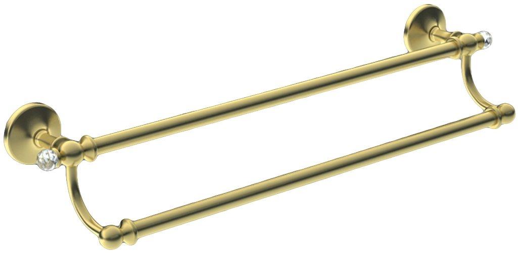 Двойной полотенцедержатель Art&Max Antic Crystal AM-2648SJ-Do, золото