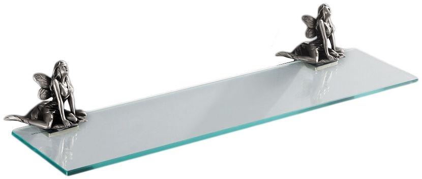 Стеклянная полка Art&Max Fairy AM-0983-T, серебро