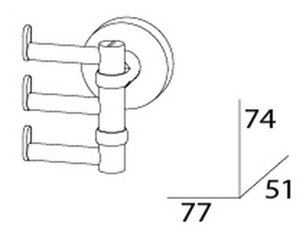 Крючок поворотный тройной Artwelle Harmonie HAR 010