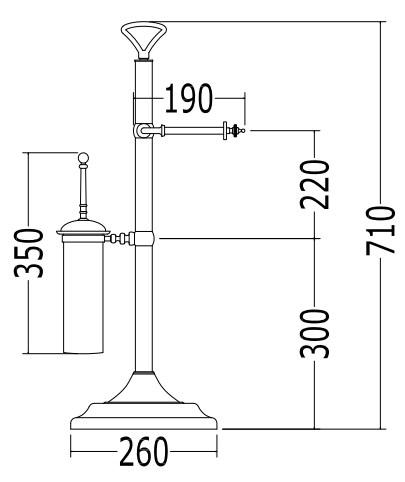 Стойка, бумагодержатель и ершик Devon&Devon Single арт. SL12CR, хром