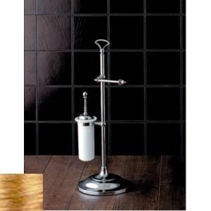 Стойка, бумагодержатель и ершик Devon&Devon Single арт. SL12OT, светлое золото