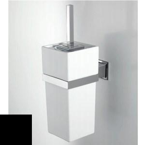 Ершик для туалета Devon&Devon Time TM320CRNE, хром/черный